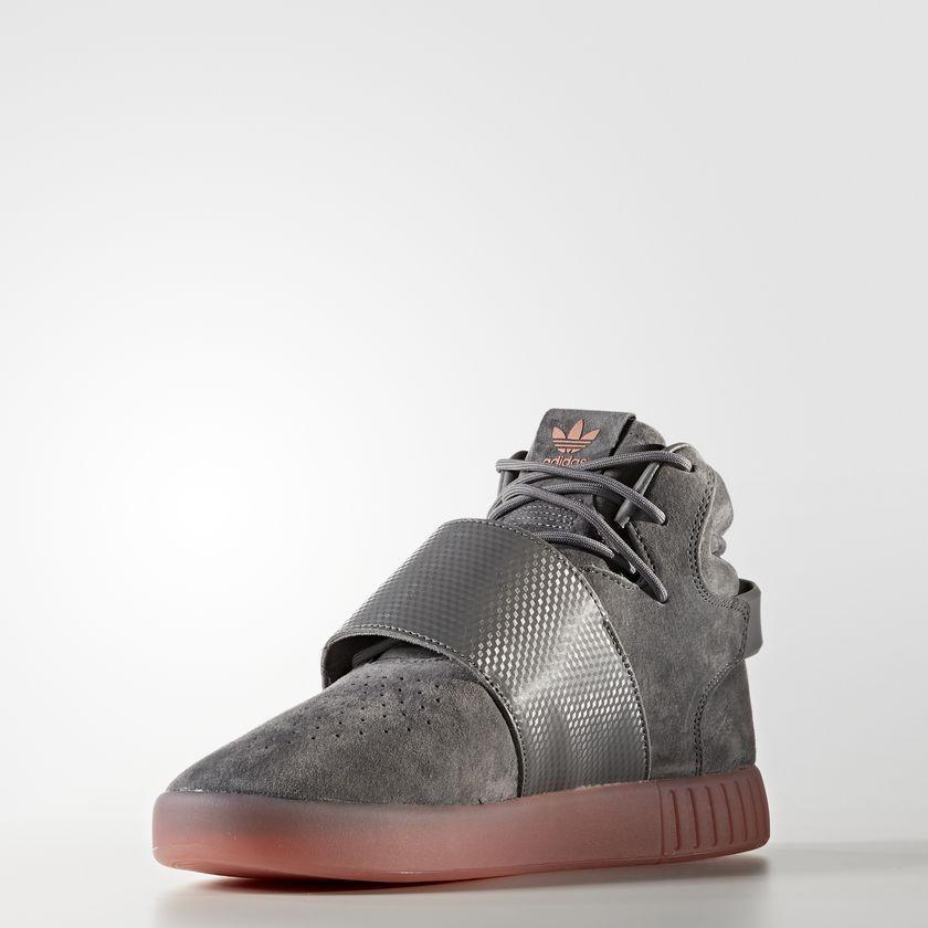 hot sale online c6c2a f15ad ... Hombre Adidas Originals Tubular Invader Correa Zapatos Gris Four   Gris  Four   Raw Fucsia BY3634 ...