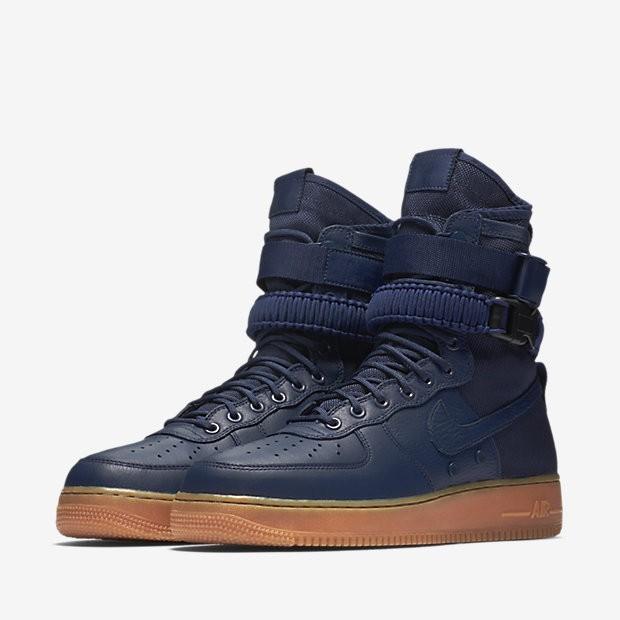 Negro Midnight Gum Azul Bota Marino Sf Force Hombre Nike Air 1 RLS4c35Ajq