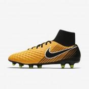 Hombre / Mujer Nike Magista Onda II Dynamic Fit FG Botas de fútbol para suelo firme 917787-801 Láser Naranja / Blancas / Volt / Negro