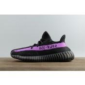 Mujer Hombre Adidas Yeezy Boost 350 V2 Negro Púrpura con caja