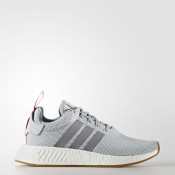 Adidas Originals NMD_R2 Zapatos Mujer Gris Two / Gris Three / Shock Fucsia BY9317