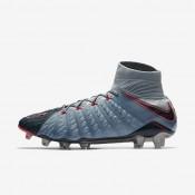 Botas de fútbol Nike Hypervenom Phantom 3 DF FG de suelo firme Hombre / Mujer Armería de luces azules / Armory Azul / Hot Punch / Armory Azul marino 860643-400