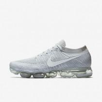 Zapatillas de running Nike Air VaporMax Flyknit Hombre 849558-004 Pure Platinum / Wolf Gris / Blancas