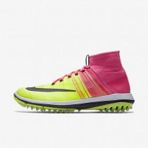 Hombre Nike Flyknit Elite Golf Zapatillas 844450-600 Fucsia Blast / Volt / Blancas / Negro