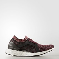 Running Adidas UltraBOOST X Zapatos Mujer Core Negro / Core Negro / Misterio Ruby BY1674