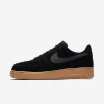 Hombre Nike Air Force 1 07 LV8 Zapato AA1117-001 Negro / Gum Medium Marrón / Ivory / Negro