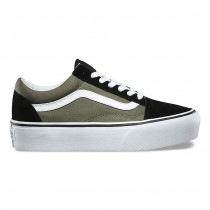 Mujer Vans Plataforma Old Skool Zapatillas Grape Leaf / True Blancas