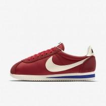 Zapatillas Nike Classic Cortez Nylon Premium Mujer 882258-600 Rojo / Old Royal / Sail
