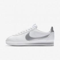 Zapatillas Mujer Nike Classic Cortez 807471-105 Blancas / Wolf Gris / Metallic Plata