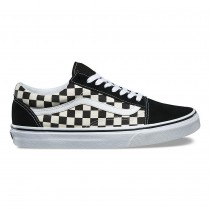Vans Primary Check Old Skool Zapatos Mujer Negro / Blancas