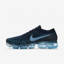 Hombre Zapatillas de running Nike Air VaporMax Flyknit 849558-405 Escuela Azul marino / Blustery / Negro / Cerulean