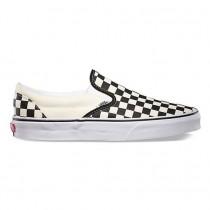 Zapatillas Slip-On Vans Classic Mujer Negro y Blancas Checker / Blancas EYEBWW