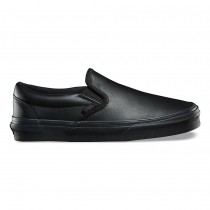 Vans Leather Classic Slip-On DX Zapatos Mujer Negro / Mono