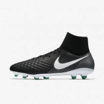 Bota de fútbol Nike Magista Onda II Dynamic Fit FG de suelo firme Hombre / Mujer 917787-002 Negro / Cool Gris / Stadium Verde / Blancas