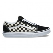Vans Primary Check Zapatos Old Skool Hombre Negro / Blancas