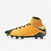 Hombre / Mujer Nike Hypervenom Phantom 3 DF FG Botas de fútbol para suelo firme 860643-801 Laser Naranja / Negro / Volt / Blancas