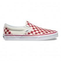 Vans Primary Check Calzado clásico Slip-On Hombre Racing Rojo / Blancas
