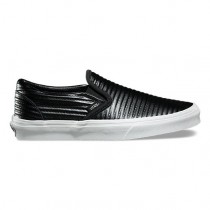 Vans Moto Leather Slip-On Mujer Negro / Blancas