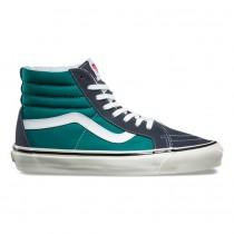 Zapatillas Mujer Dans Anaheim SK8-Hi 38 DX Azul marino / Mallard-Verde