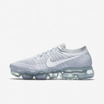 Zapatillas Mujer Nike Air VaporMax Flyknit Explorer 849557-004 Pure Platinum / Wolf Gris / Blancas
