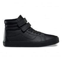 Hombre Vans Mono Cuero SK8-Hi Reedición V Zapatos Negro
