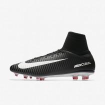 Nike Mercurial Veloce III Dynamic Fit FG Botas de fútbol para suelo firme Hombre / Mujer 831961-002 Negro / Gris oscuro / Universidad Rojo / Blancas