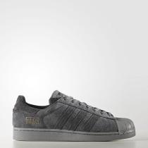 Hombre Mujer Adidas Originals Superstar Zapatos Gris Five / Utility Negro / Utility Negro BZ0216