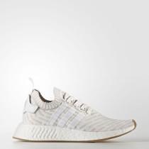 Adidas Originals NMD_R2 Primeknit Zapatos Mujer Calzado Blancas / Calzado Blancas / Shock Fucsia BY9954