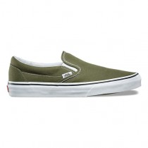 Vans Slip-On Mujer Army Verde / True Blancas