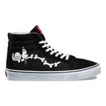 Vans X Peanuts Sk8-Hi Reedición Zapatos Mujer Snoopy Negro