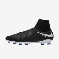 Bota de fútbol Nike Hypervenom Phelon III Dynamic Fit FG de suelo firme Hombre / Mujer 917764-002 Negro / Blancas