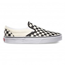 Hombre Vans Checkerboard Classic Slip-On Zapatillas Negro y Blancas Checker / Blancas