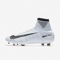 Hombre / Mujer Nike Mercurial Veloce III Dynamic Fit CR7 FG Botas de fútbol para suelo firme 852518-401 Azul Tint / Blancas / Azul Tint / Negro