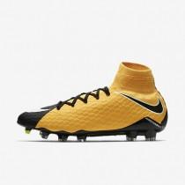Hombre / Mujer Nike Hypervenom Phatal 3 DF FG Botas de fútbol para suelo firme 852554-801 Laser Naranja / Negro / Volt / Blancas