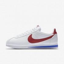 Zapatillas de cuero Nike Classic Cortez Hombre 749571-154 Blancas / Varsity Royal / Varsity Rojo