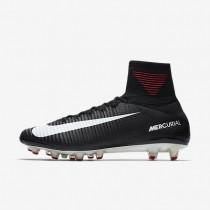 Botas de fútbol Nike Mercurial Superfly V AG-PRO de algodón artificial Hombre / Mujer 831955-002 Negro / Gris oscuro / Blancas