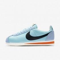 Zapatillas Mujer Nike Classic Cortez Nylon Premium 882258-402 Still Azul / Sail / Safety Naranja / Negro