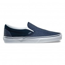 Hombre Vans Suede Classic Slip-On Zapatillas Dress Azul
