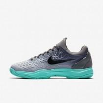 Zapatillas de tenis Nike Zoom Cage 3 Clay Hombre 918192-001 Gris oscuro / Verde / Wolf Gris / Negro