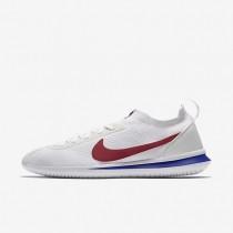 Zapatillas Nike Cortez Flyknit Hombre AA2029-100 Blancas / Varsity Royal / Varsity Rojo
