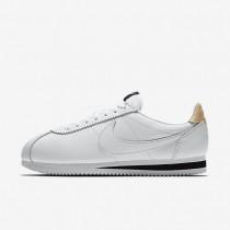 Hombre Nike Classic Cortez Leather SE Zapato 861535-101 Blancas / Negro / Vachetta Tan / Blancas