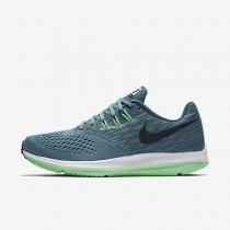 Zapatillas de running Nike Zoom Winflo 4 Hombre 898466-004 Azul ahumado / Legion Azul / Electro Verde / Obsidiana