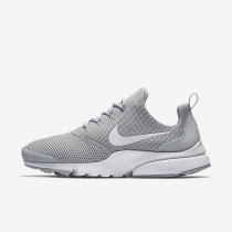 Hombre Nike Presto Fly Zapatos 908019-003 Wolf Gris / Wolf Gris / Blancas