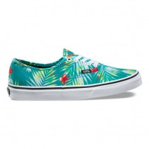 Hombre Vans Decay Palms Authentic Zapatillas Báltico / True Blancas