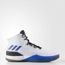 Baloncesto Adidas D Rose 8 Zapatos Hombre Calzado Blancas / Azul-Sld / Core Negro CQ0830