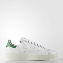 Adidas Originals Stan Smith Bold Zapatos Mujer Calzado Blancas / Verde S32266
