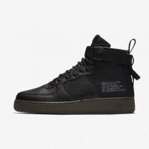 Hombre Nike SF Air Force 1 Mid Zapatillas 917753-002 Negro / Oscuro Hazel / Negro