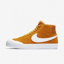 Zapatillas Hombre Skate Mid XT Nike SB Blazer 876872-819 Circuito Naranja / Gum Ligero Marrón / Blancas