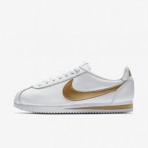Zapatillas Mujer Cortez Nike Classic 807471-106 Blancas / Metallic Oro