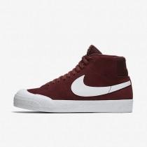 Zapatillas Nike SB Blazer Mid XT Skateboarding Hombre 876872-619 Equipo Oscuro Rojo / Luz Encías Marrón / Blancas